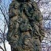 Rzeźba Trójcy Św. koronującej Matkę Boską.
